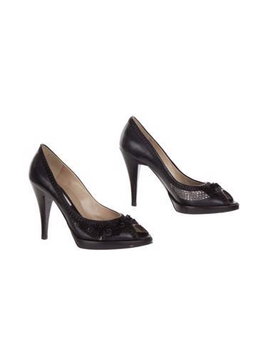 Siyah Pollini Ayakkabı