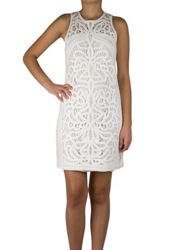 Beyaz Maje Elbise