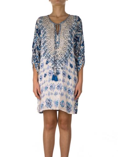 Beyaz Tolani Elbise / Tunik