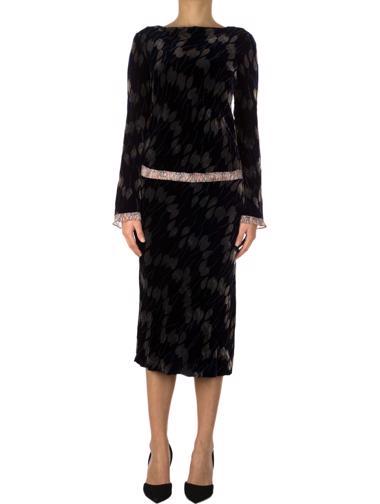 Lacivert Diane von Fürstenberg Elbise