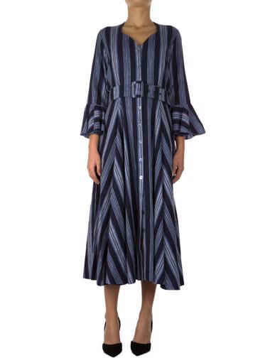 Lacivert Gül Hürgel Elbise