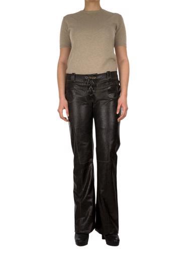 Siyah Marni Deri Pantolon