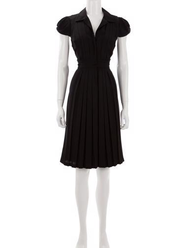Siyah Elie Tahari Elbise