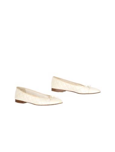 Krem Chanel Ayakkabı