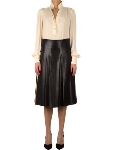 Siyah Calvin Klein Collection Deri Etek