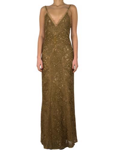 Bakır Nicole Miller Elbise
