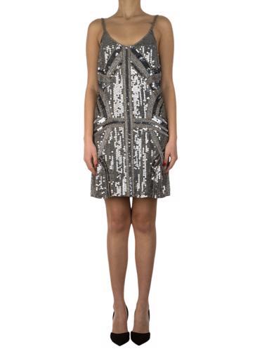 Gümüş Parker Elbise