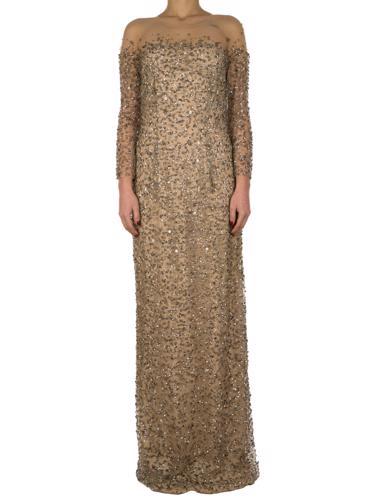 Bej Jenny Packham Elbise