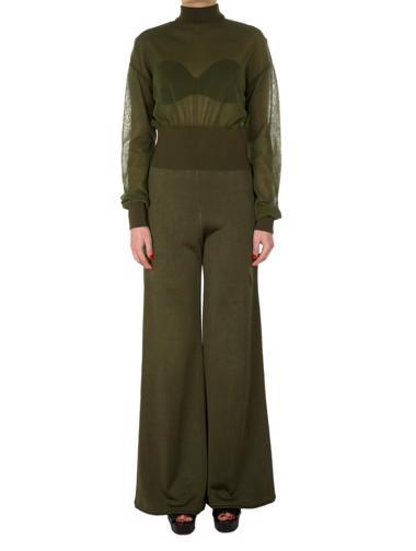 Yeşil Balmain Pantolon - Bluz