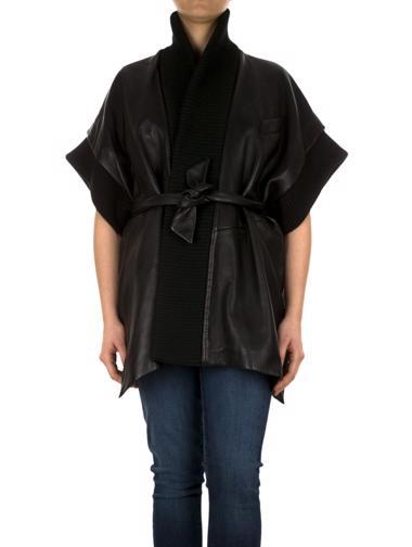 Siyah Balmain Deri Ceket