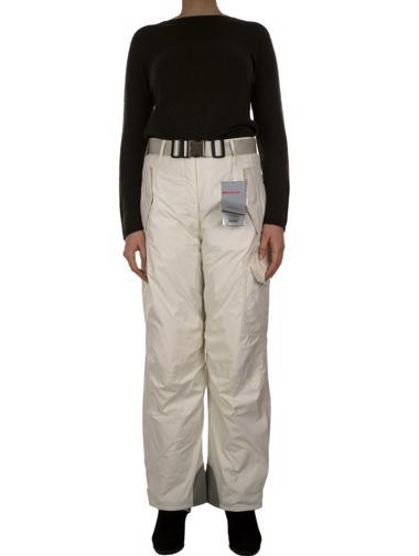 Beyaz Prada Kayak Pantolonu