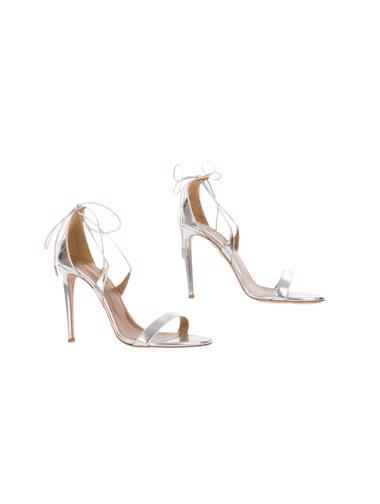 Gümüş Aquazzura Ayakkabı