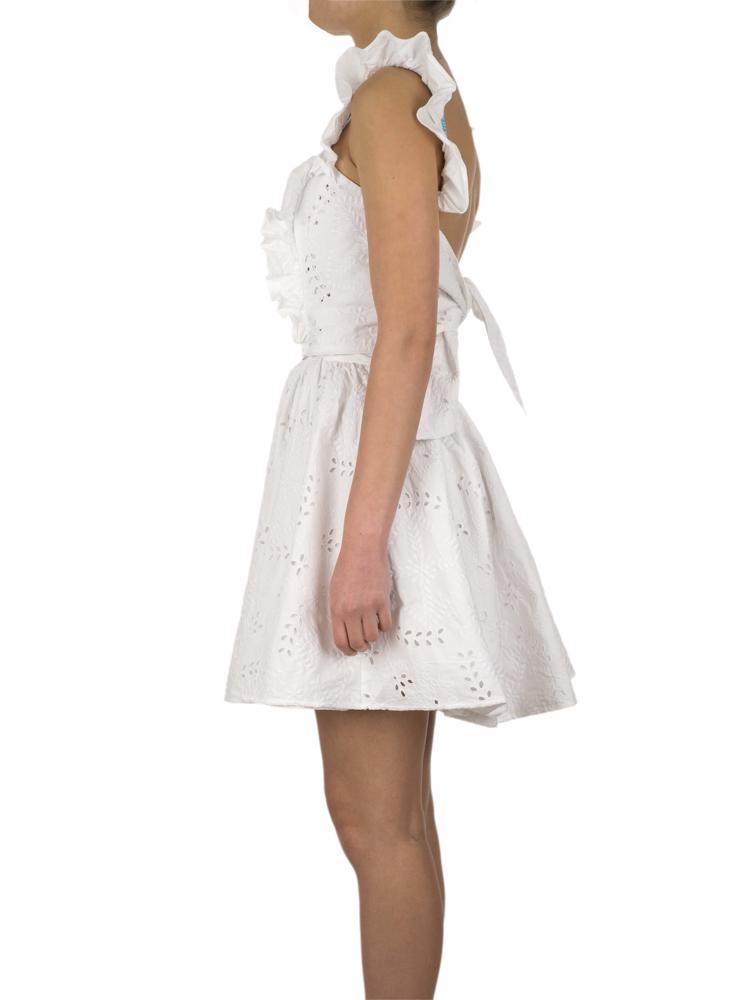 Beyaz Off-White Elbise