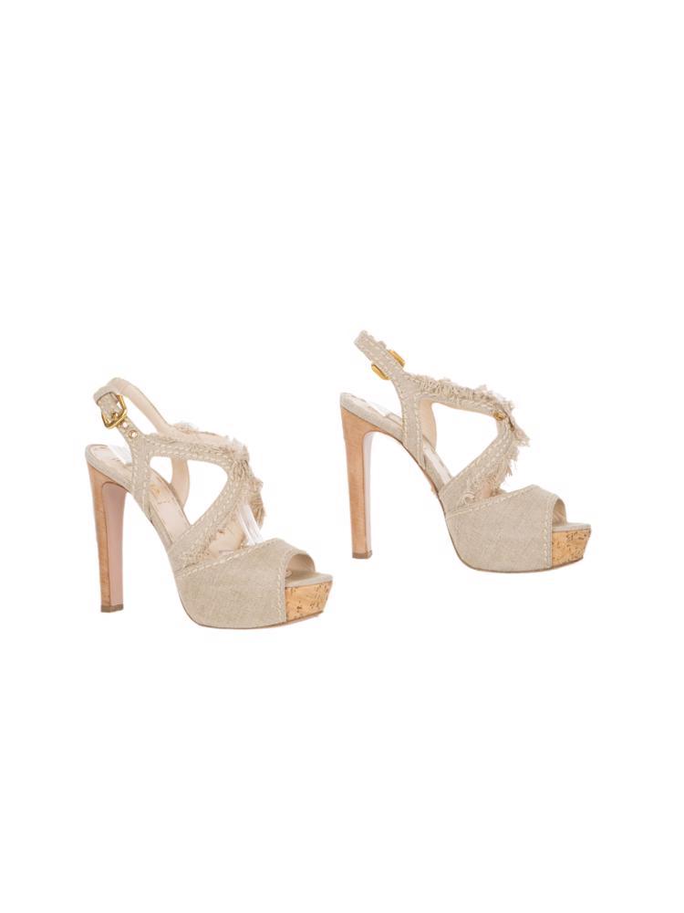 Bej Prada Ayakkabı