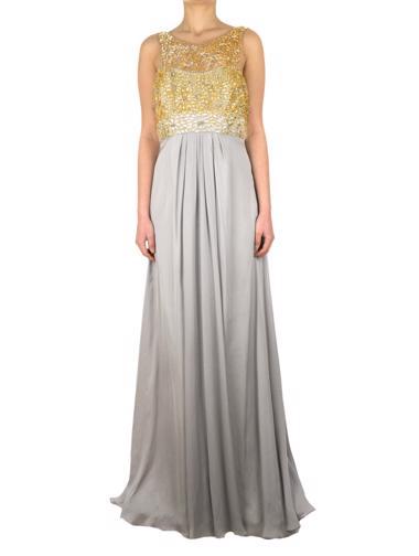 Gri Theia Elbise